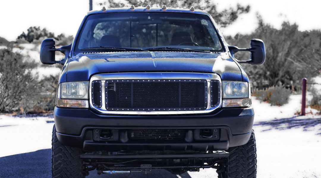 2002 Ford F250 7.3 Powerstroke Front Grill Dead Head Diesel About