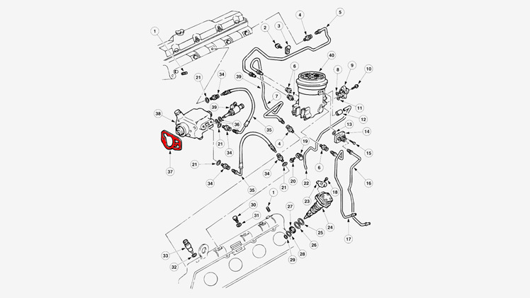 73 High Pressure Oil Pump Mounting Gasket Diagram