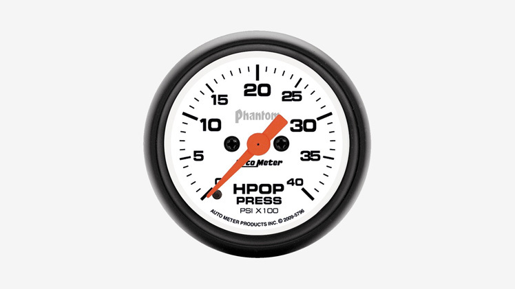7.3 HPOP Leak Symptoms Pressure Gauge