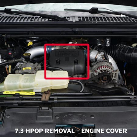 7.3 HPOP Removal Replacement of Powerstroke Plastic Engine Cover