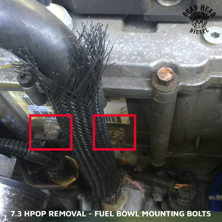 7.3 HPOP Removal Replacement - Fuel Bowl Mounting Bolts