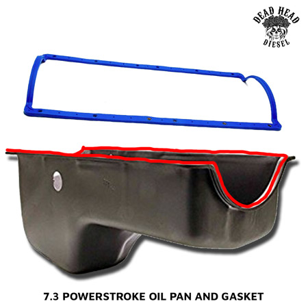 7 3 powerstroke common oil leaks - oil pan gasket